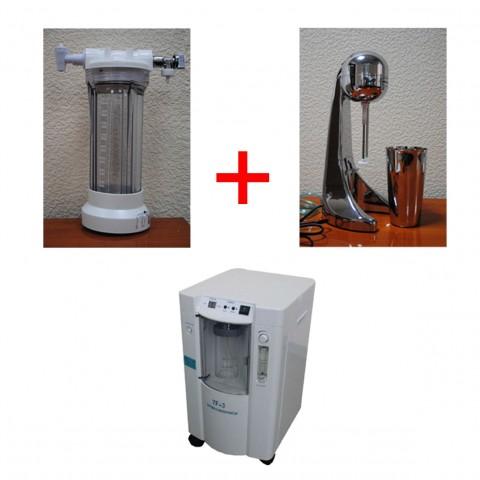 Комплект для приготовления кислородной пенки, мусса и вдыхания кислорода...